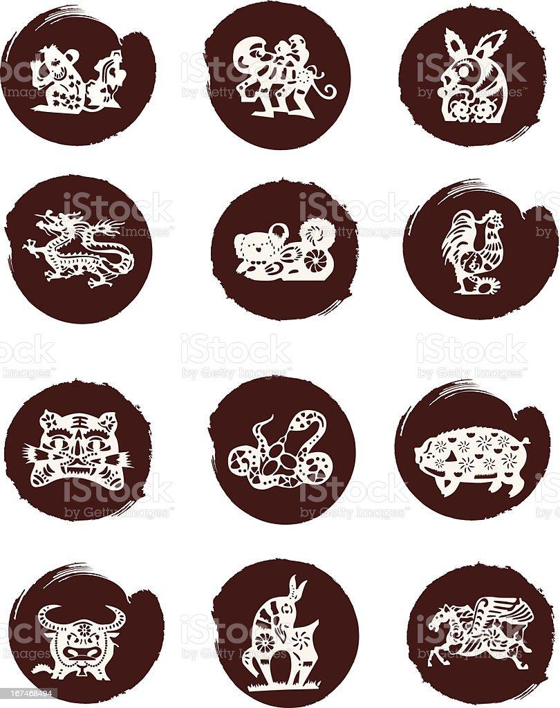 Anno Calendario Cinese.Animali Del Calendario Cinese Immagini Vettoriali Stock E