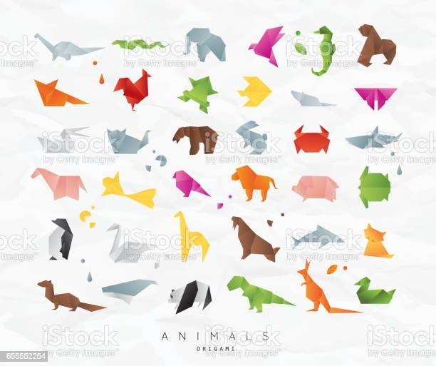 Animals origami set color vector id655552254?b=1&k=6&m=655552254&s=612x612&h=eycr l6khomh91d8si7laqqorew epb iylbdyzf35a=