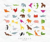 動物の折り紙の色を設定