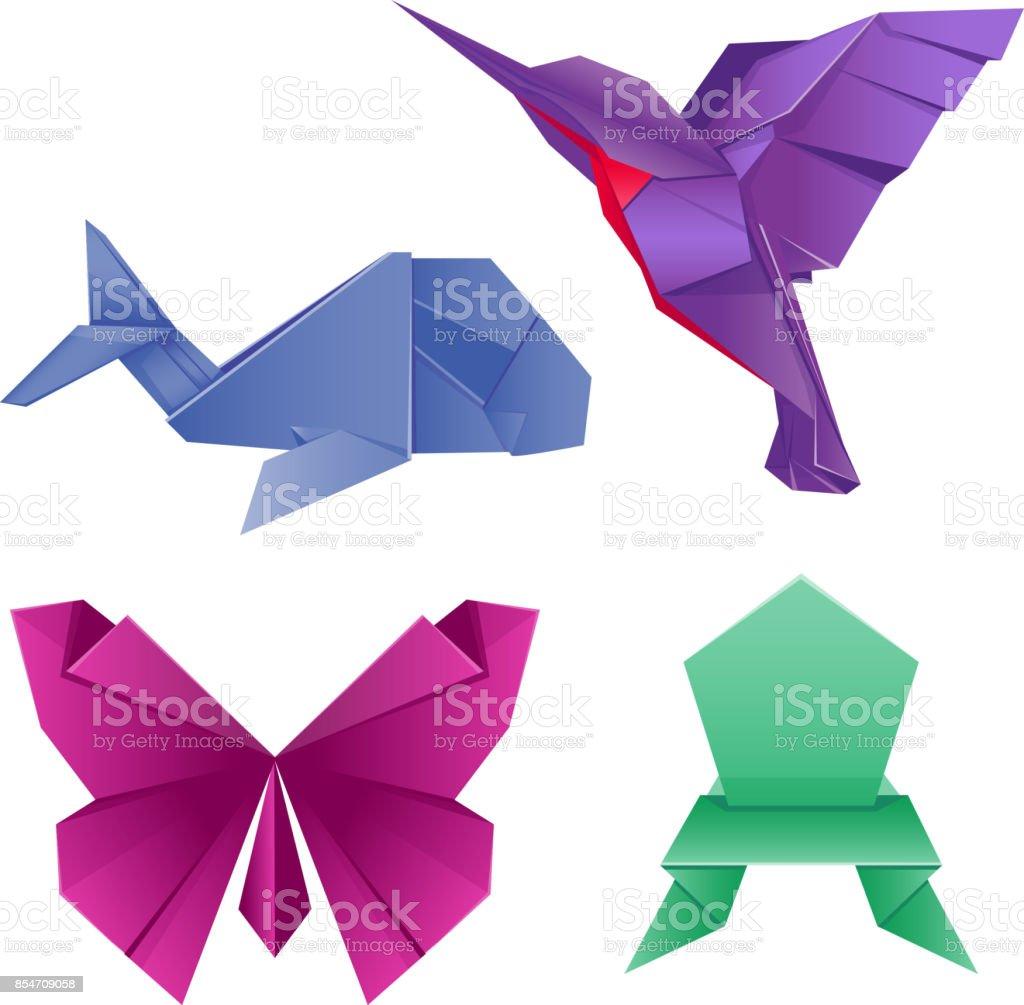 Animals Origami Set Japanese Folded Modern Wildlife Hobby