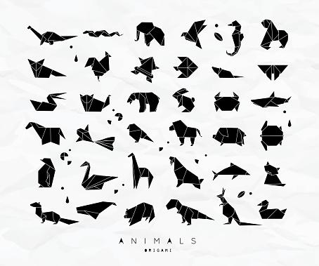 Animals origami set