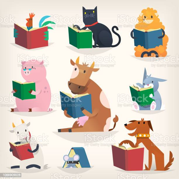 Animals reading books with stories and translating other languages vector id1066909028?b=1&k=6&m=1066909028&s=612x612&h=wpic9 raujmls7a7re6tqmyjywknw5qspnrvqbav1 4=