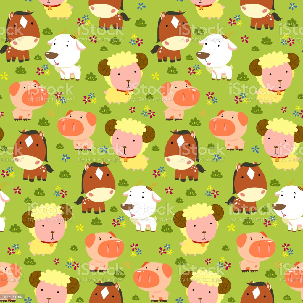 Animals seamless pattern royalty-free animals seamless pattern stock vector art & more images of abstract
