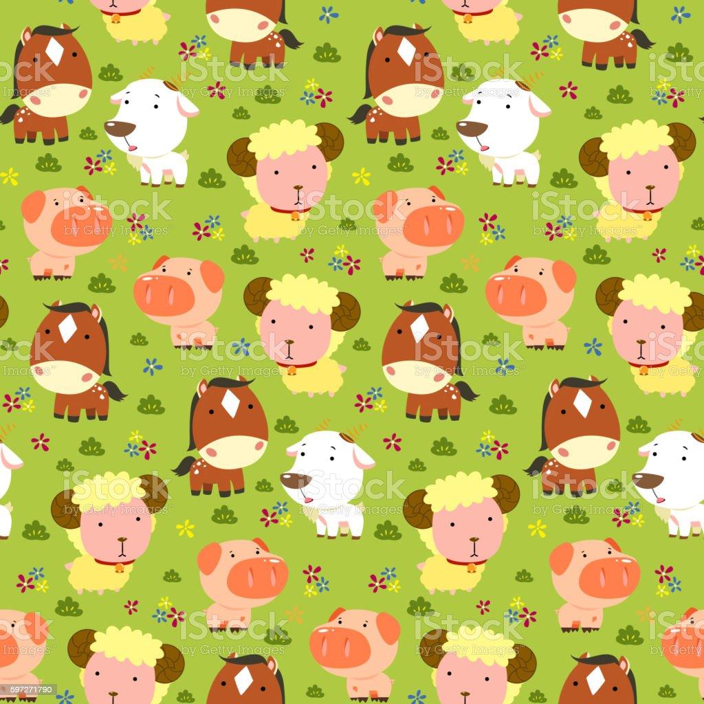 Animaux motif sans couture. animaux motif sans couture – cliparts vectoriels et plus d'images de abstrait libre de droits