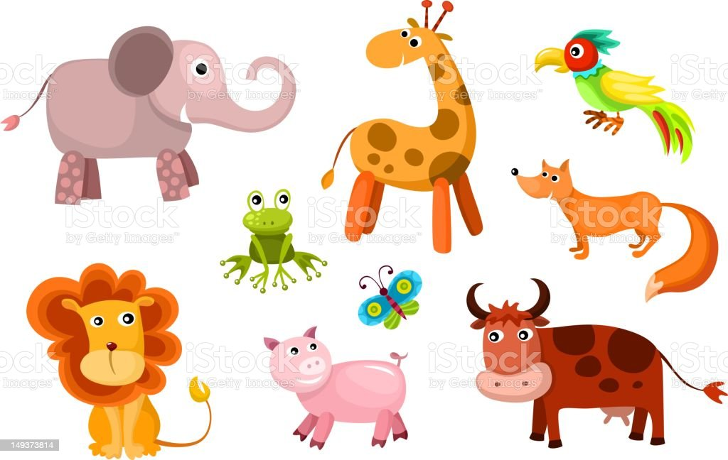 animals set royalty-free stock vector art