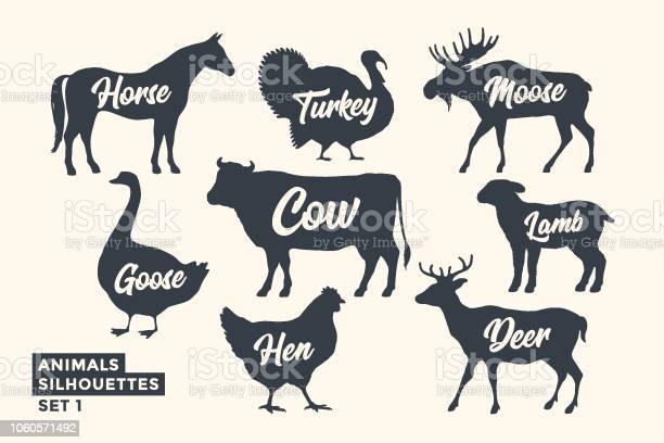 Animals silhouette set blackwhite silhouette of animals vector id1060571492?b=1&k=6&m=1060571492&s=612x612&h=ugl4lafz cbhsskfesvg26qqixxcdgll0ldjt8hcyp8=