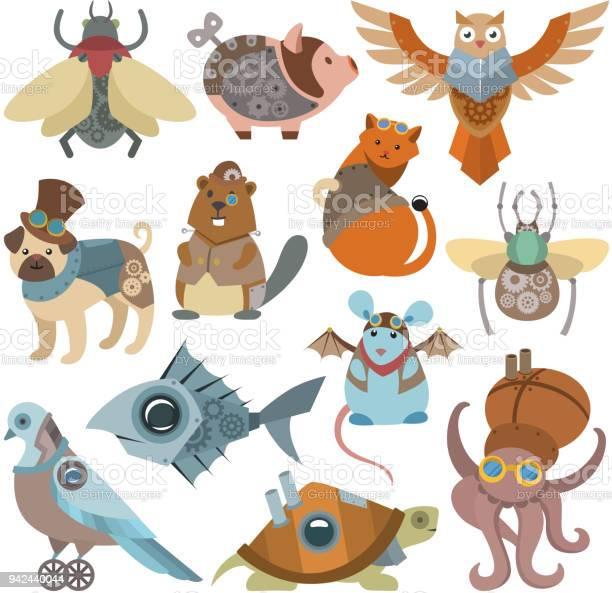 Animals steampunk vector animalistic characters in steam punk and vector id942440044?b=1&k=6&m=942440044&s=612x612&h=ur90mqz0zwaevhbikmuakcodatpdgdfxx7xv srszae=