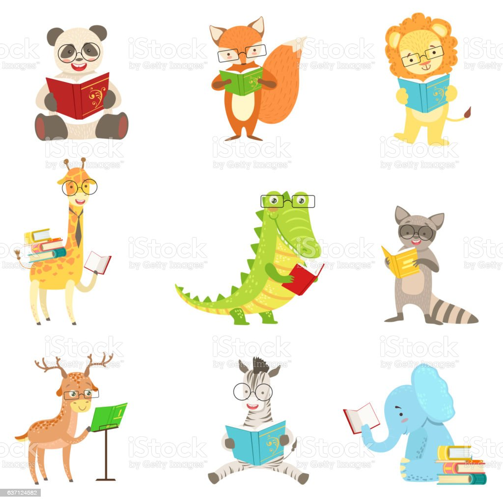 Animals superheroes_Set_1 vector art illustration