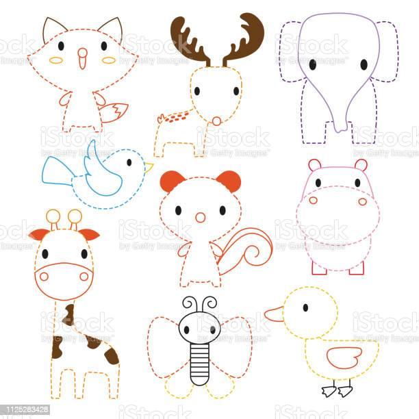 Animals worksheet vector design vector id1125283428?b=1&k=6&m=1125283428&s=612x612&h=gpvfl5yxvaqr2gd7gh thyrhel7nd1djttwkapgmf7g=