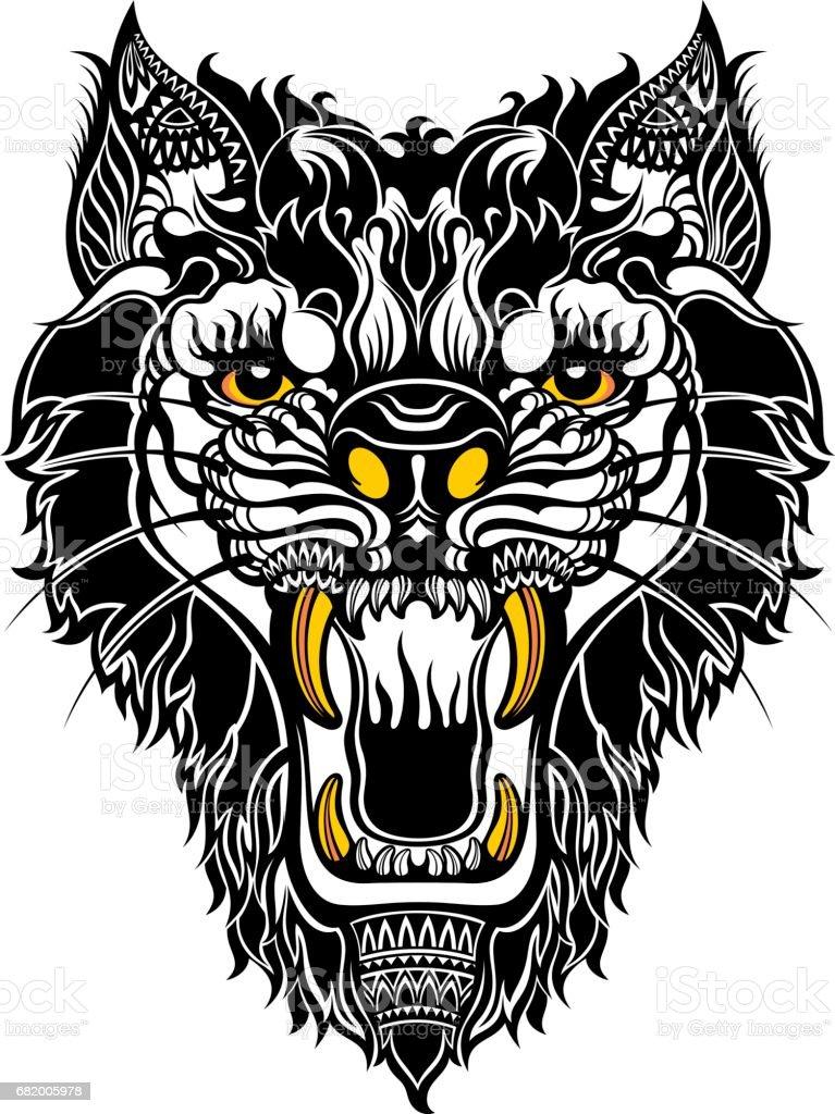 Animal.Tiger vector art illustration