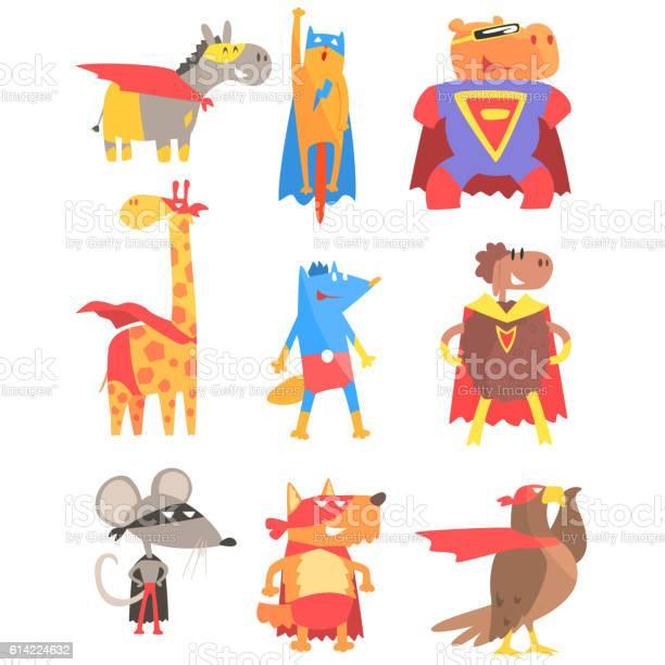 Animas dressed as superheroes set of geometric style stickers vector id614224632?b=1&k=6&m=614224632&s=612x612&h=kajwy7jjctxxpvhfe3gvk8hfioqsapbmkig848wgtdq=