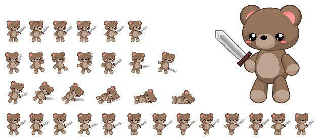 Animated Bear Sprites