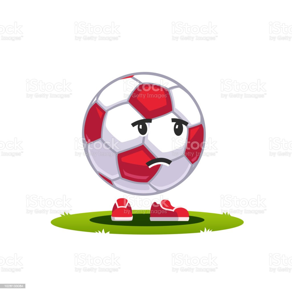 Zeichentrickfilm Fussball Ball Emoticon Fan Fan Charakter
