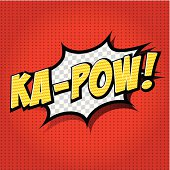 Animated comic speech bubble with the words Ka-Pow