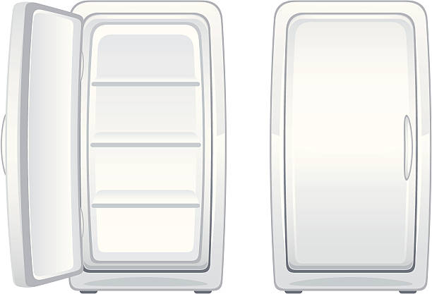 refrigerator coloring page - k hlschrank offen vektorgrafiken und illustrationen istock