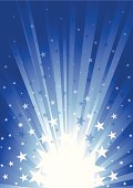 Star Burst in Dark blue, like sunbeam effect. illustration contains transparency effects & Gaussian Blur,AI CS3, Contains : 1 layers, Adobe Version 10EPS