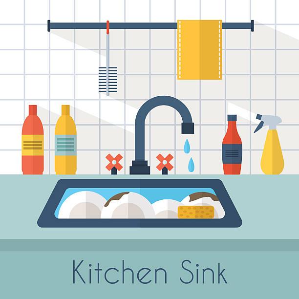 Tremendous Best Sink Kitchen Illustrations Royalty Free Vector Home Interior And Landscaping Spoatsignezvosmurscom