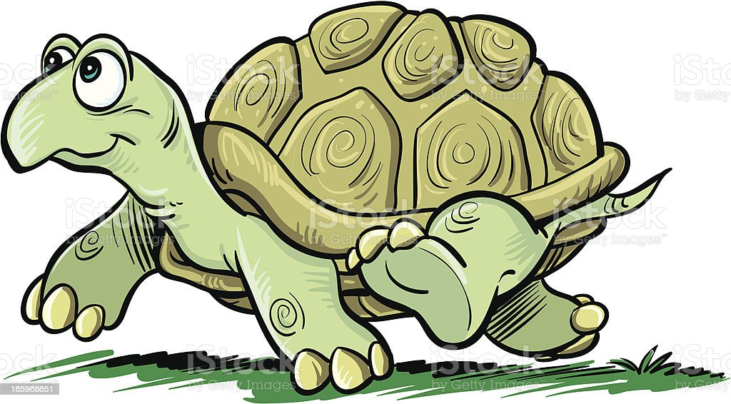 Animated Turtle Happily Walking Stock Illustration Download