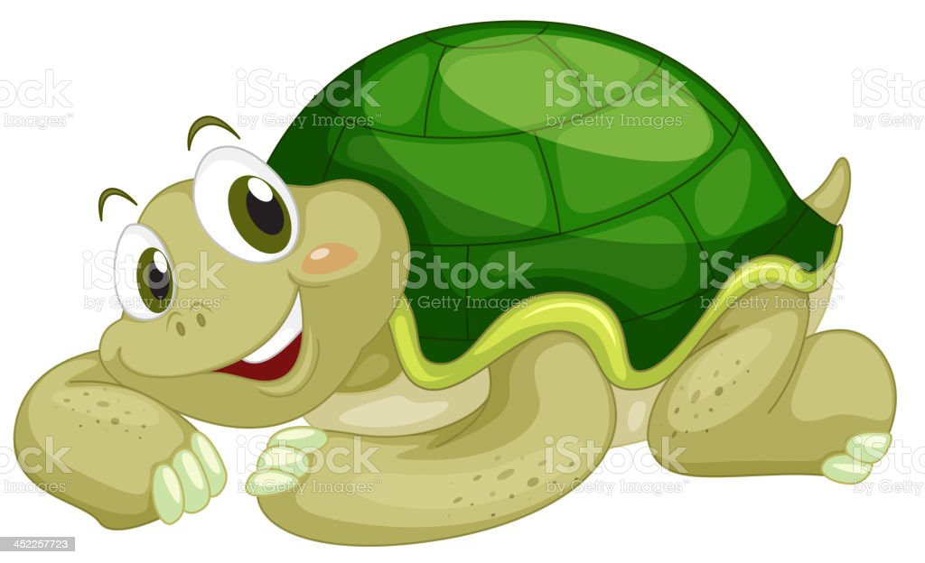 Animated turtle royalty-free stock vector art