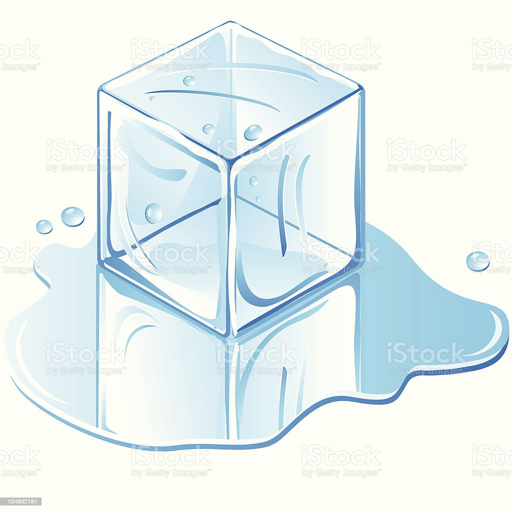 royalty free ice cube melting clip art vector images rh istockphoto com ice clipart png clipart ice cream cone