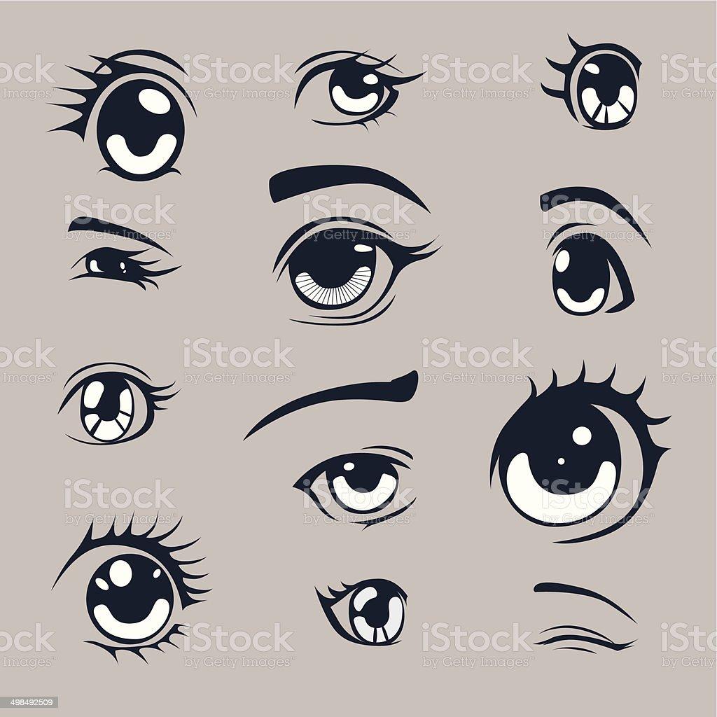 Anime Augen Stock Vektor Art Und Mehr Bilder Von Auge 498492509