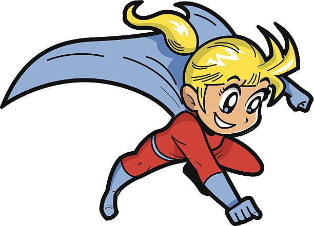Anime Manga Girl Superhero vector art illustration