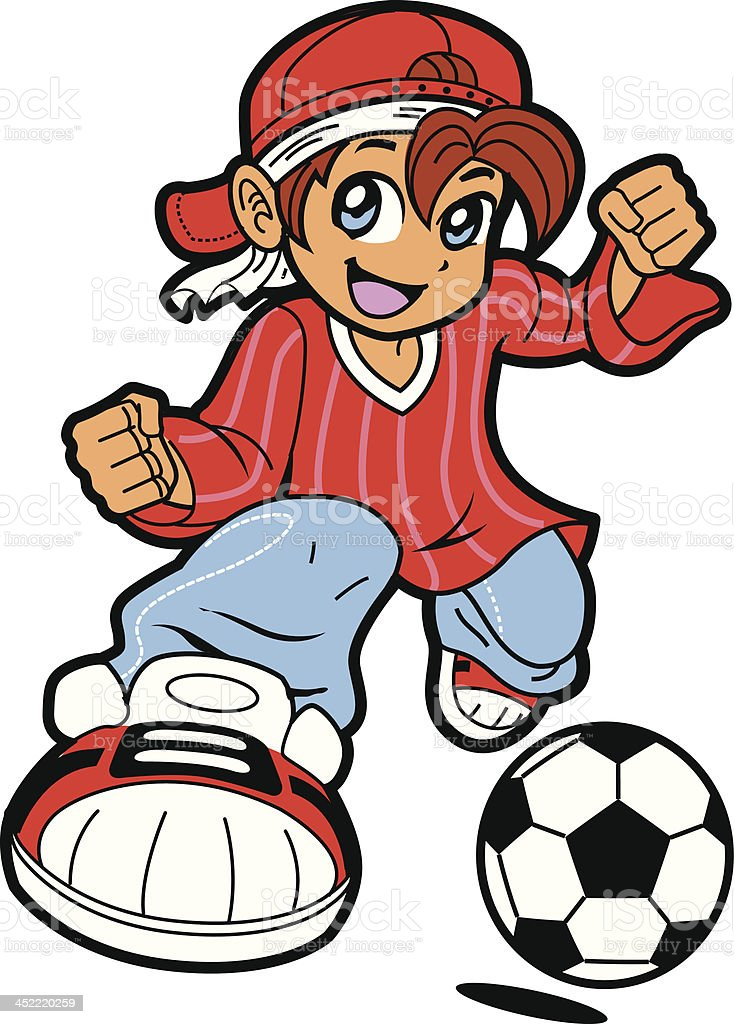Anime Manga Soccer Player royalty-free stock vector art