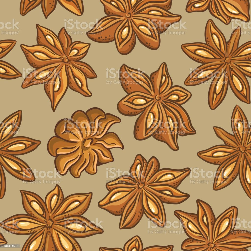 anise vector pattern vector art illustration