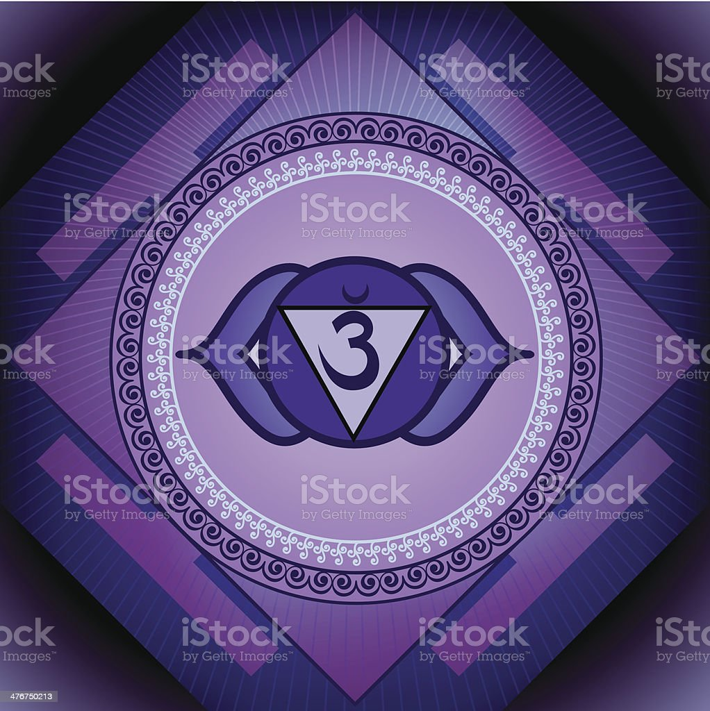 Anja Chakra royalty-free stock vector art