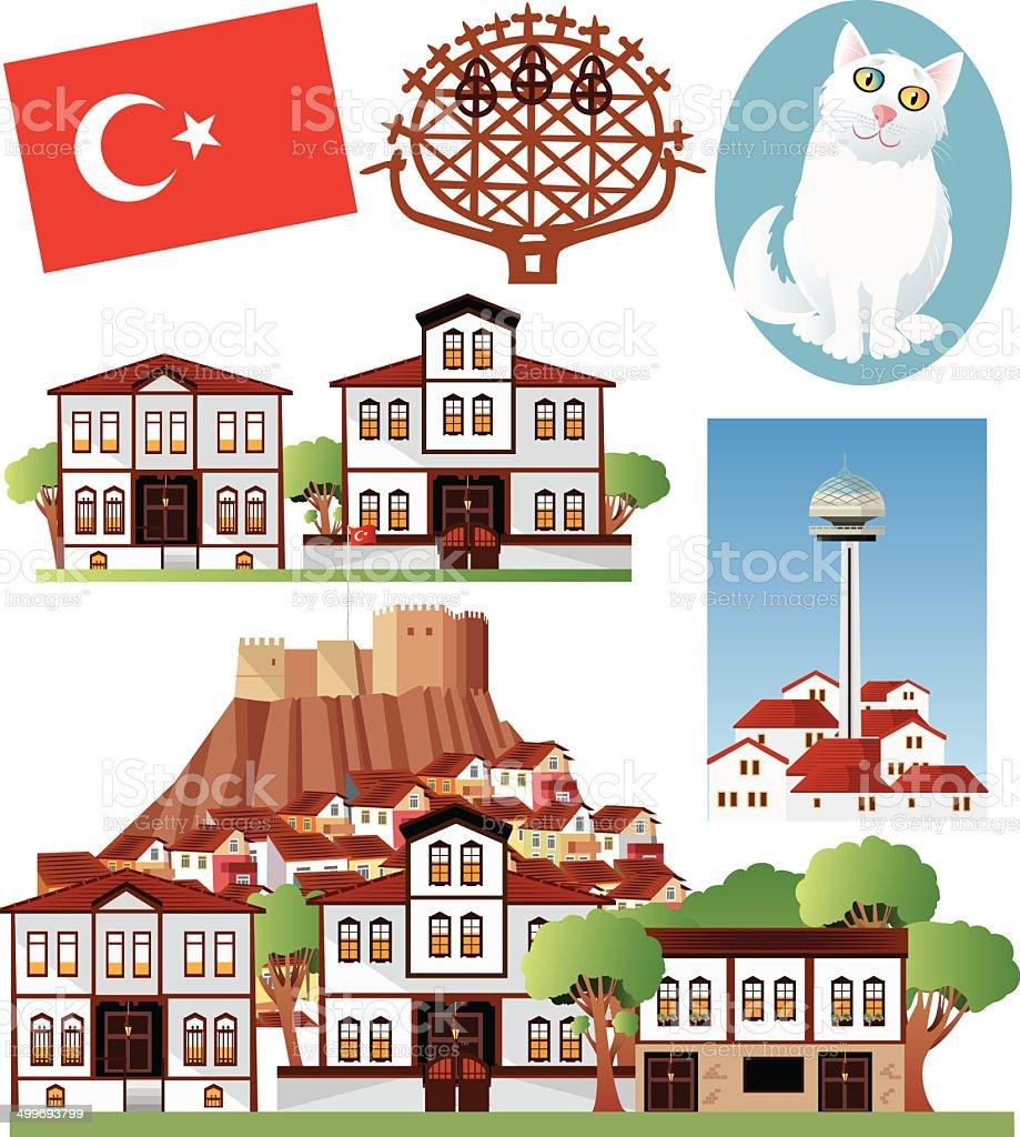 Ankara Symbols royalty-free stock vector art