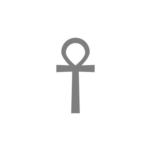 ankh symbol, egyptian word for life, symbol of immortality icon. Simple web black icon, can be used as web element icon vector art illustration