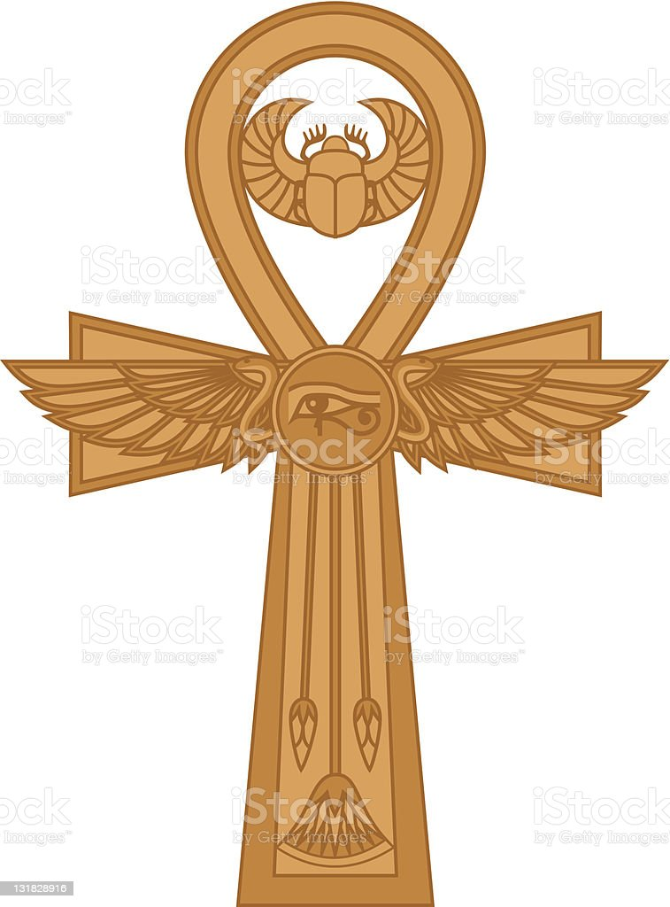 Ankh vector art illustration