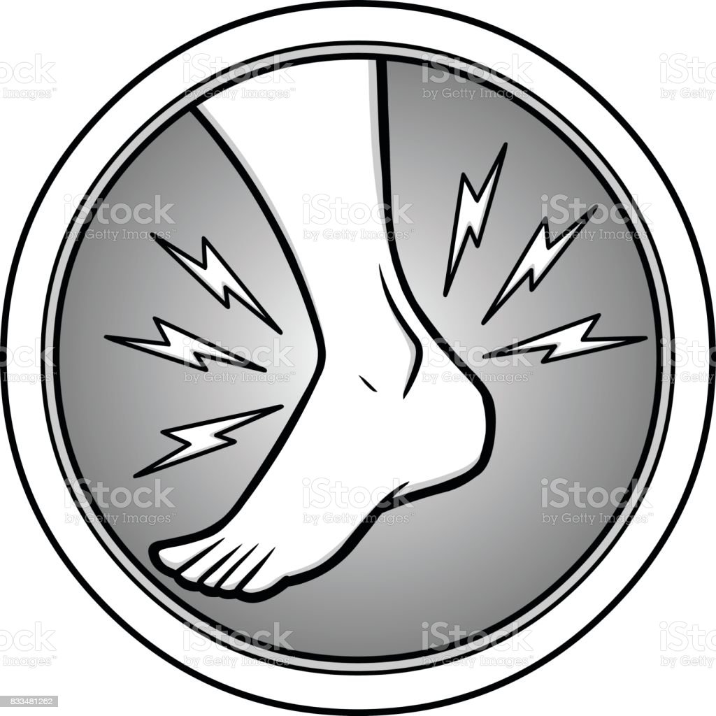 Ankle Injury Illustration vector art illustration