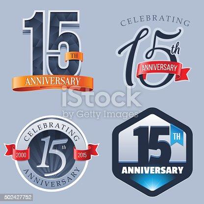 A Set of Symbols Representing a Fifteenth Anniversary/Jubilee Celebration
