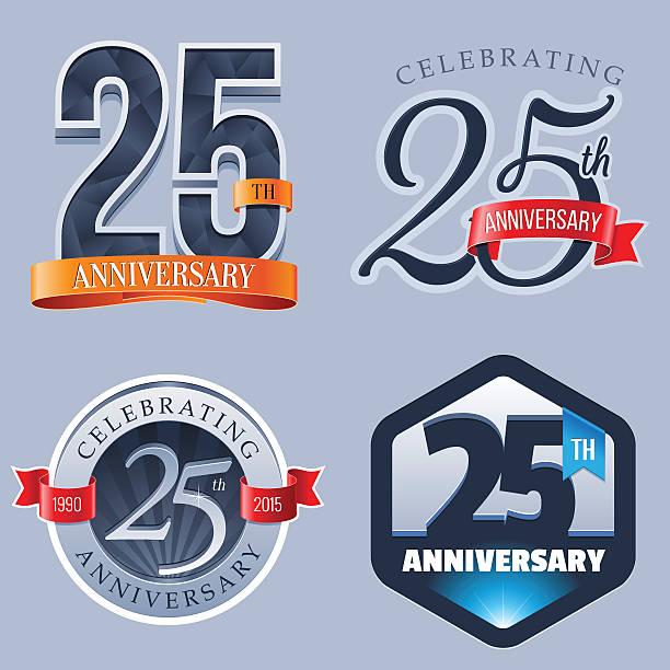 bildbanksillustrationer, clip art samt tecknat material och ikoner med anniversary  25 years - 25 29 år