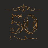 Anniversary 50th signs