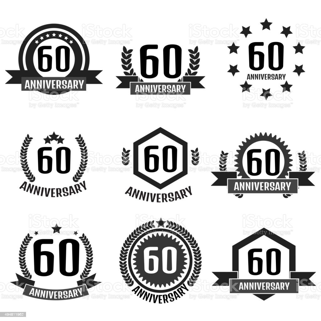 Anniversary 60. vector art illustration