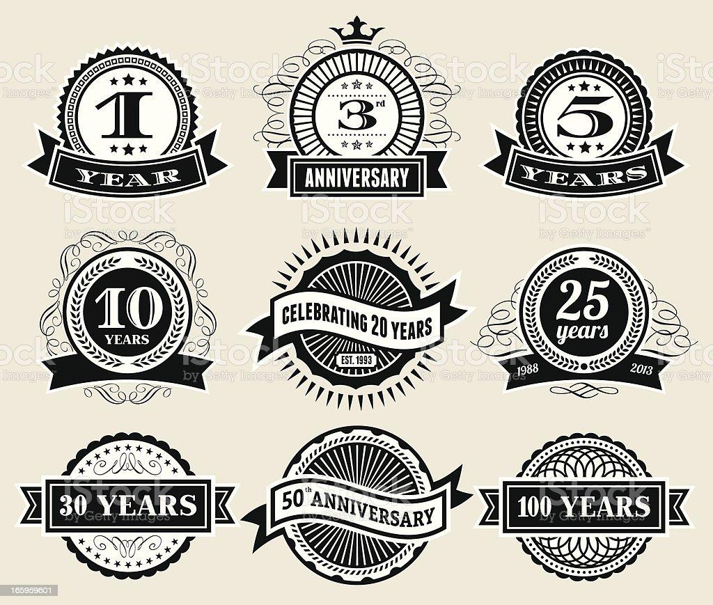 Anniversary Badge Collection vector art illustration