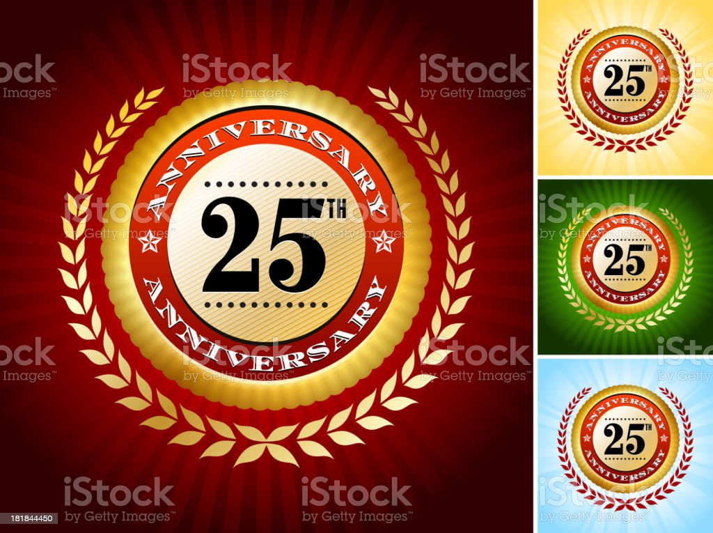 Anniversary Badges Collection royalty-free stock vector art