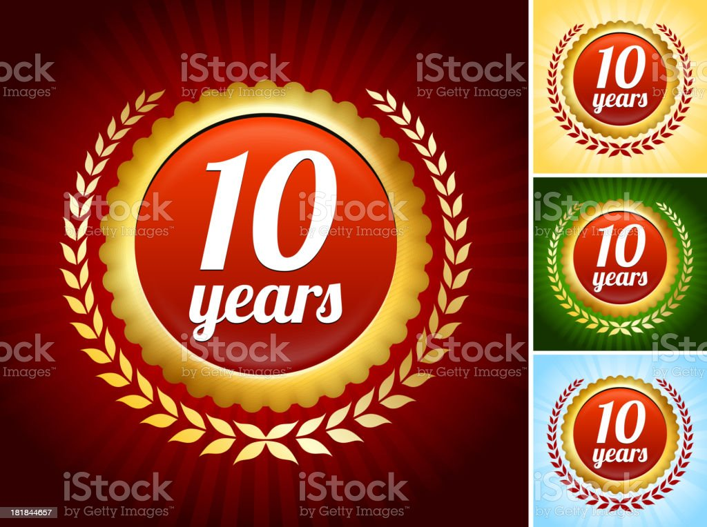 Anniversary Badges Collection vector art illustration