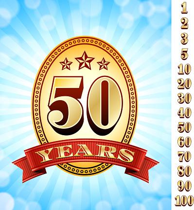 Anniversary Badges Red And Gold Collection Background-vektorgrafik och fler bilder på 20-24 år