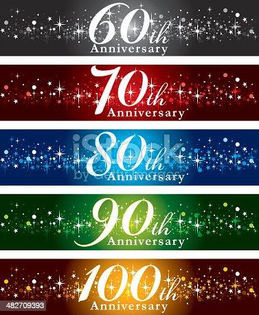 istock Anniversary Banners 482709393