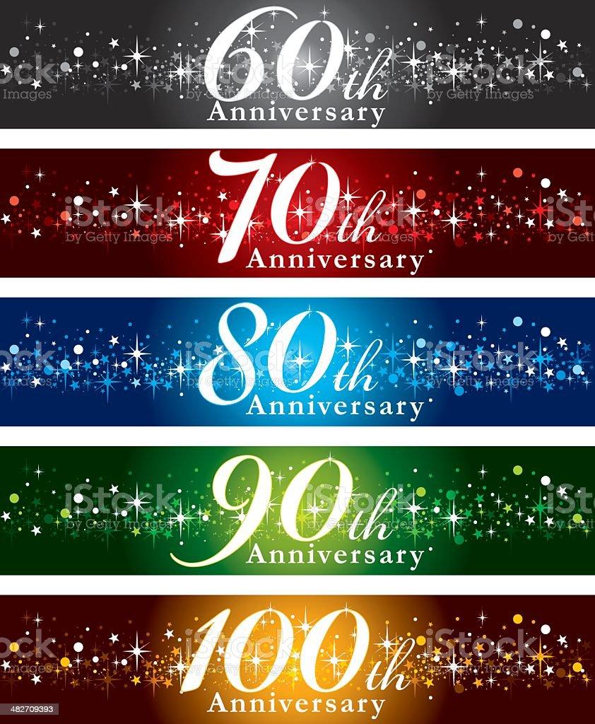 Banner buon anniversario - illustrazione arte vettoriale