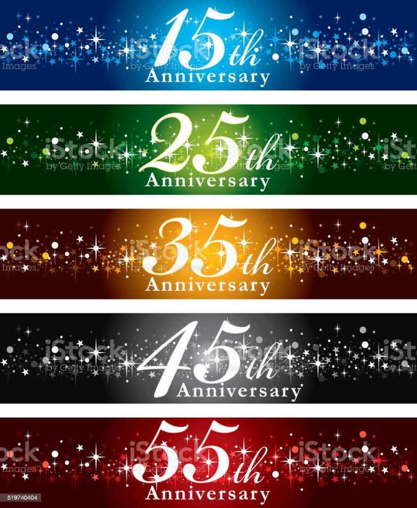 Anniversary Banners vector art illustration