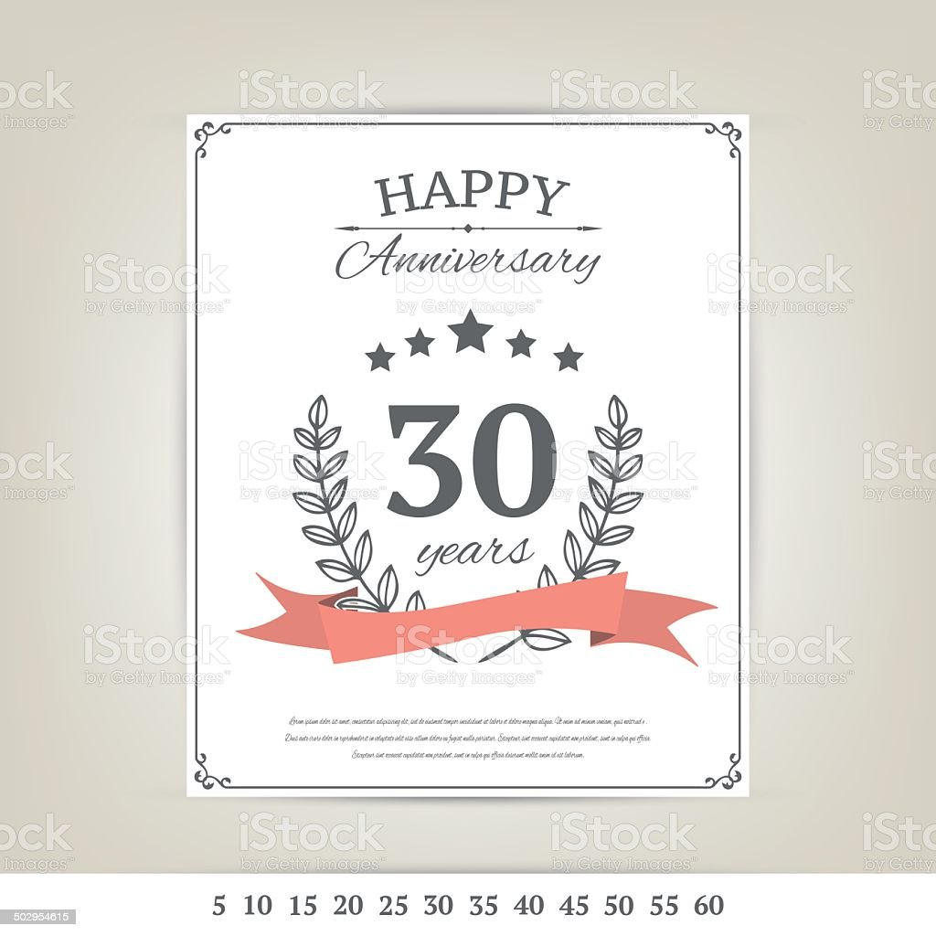 Anniversary Card Template | Anniversary Card Template Stock Vector Art More Images Of 10th