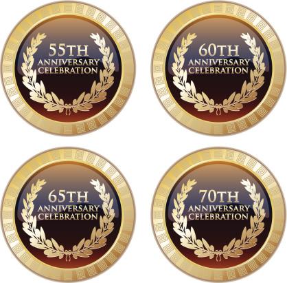 Anniversary Celebration Award Collection-vektorgrafik och fler bilder på 50-54 år