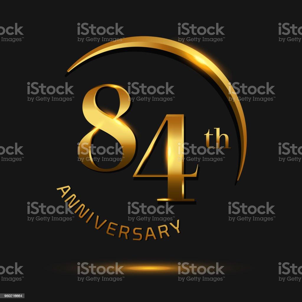 Carto de aniversrio celebrao designinvitation 84 e carto de carto de aniversrio celebrao designvitation 84 e carto de saudao cor de ouro stopboris Choice Image
