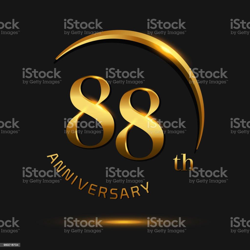 88 Anniversary Celebration Designinvitation Card And Greeting Card