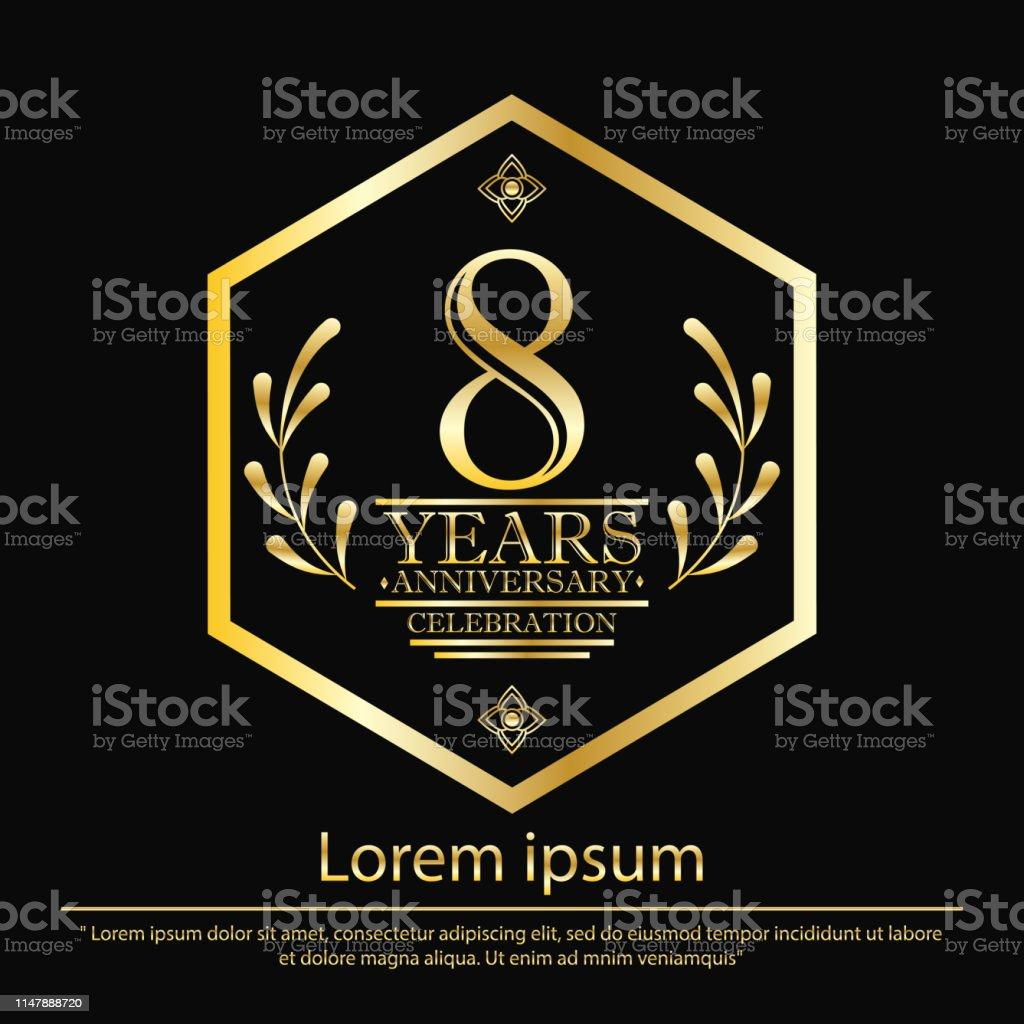 anniversary celebration emblem 8th years. anniversary logo with...