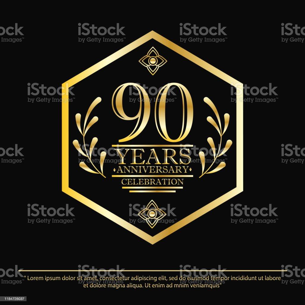 Ilustración De Aniversario Celebración Del Emblema 90 Años
